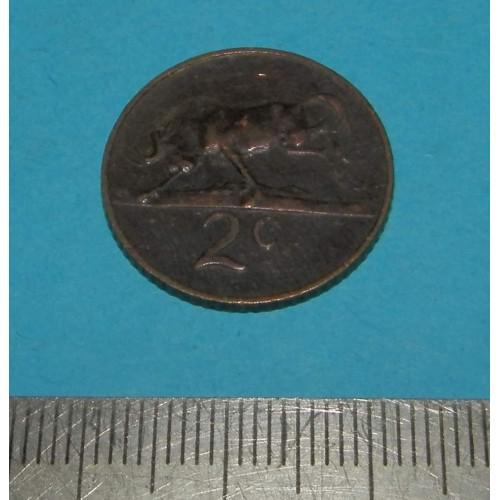 Zuid-Afrika - 2 cent 1965