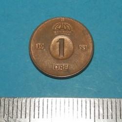 Zweden - 1 öre 1953