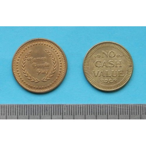 "Amerikaans token ""Games People Play - model A - 1 st."""