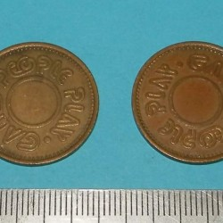 "Amerikaans token ""Games people play"" - model B - 1 st"