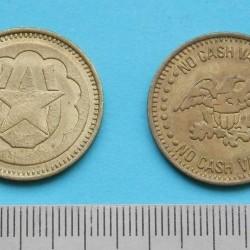 Amerikaans token hoefijzer en ster - 1 st.