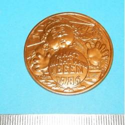 Mardi Gras dubloen - Youth Mardi Gras 1986 - goud
