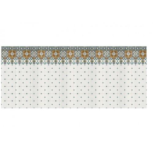 Antieke tegels in 1:12 - papieren muurplaat - A4, zelfklevend