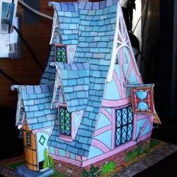 Sprookjes poppenhuis in 1:18 - papieren bouwplaat
