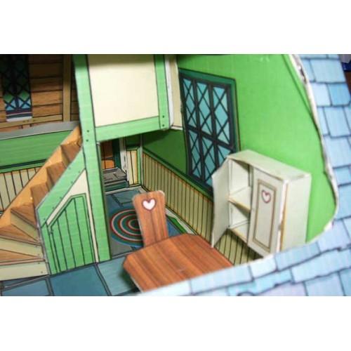 Sprookjes poppenhuis in 1:12 - papieren bouwplaat