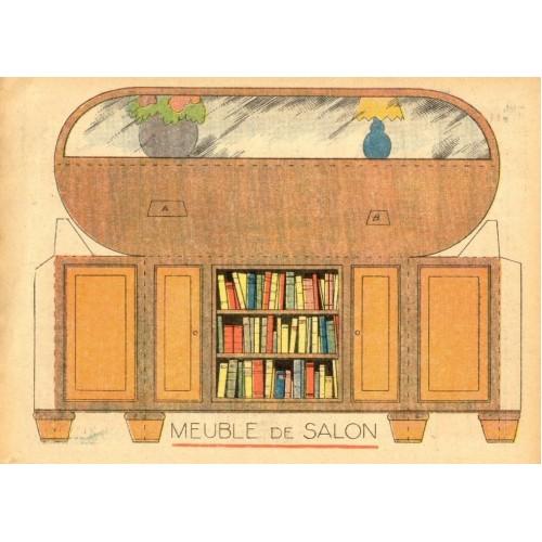 Dressoir voor poppenhuis in 1:12 - oude papieren bouwplaat