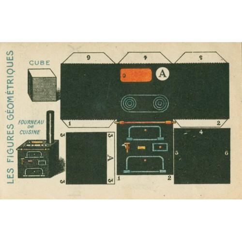 Fornuis voor poppenhuis - oude papieren bouwplaat