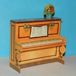 Piano in 1:18 - oude papieren bouwplaat