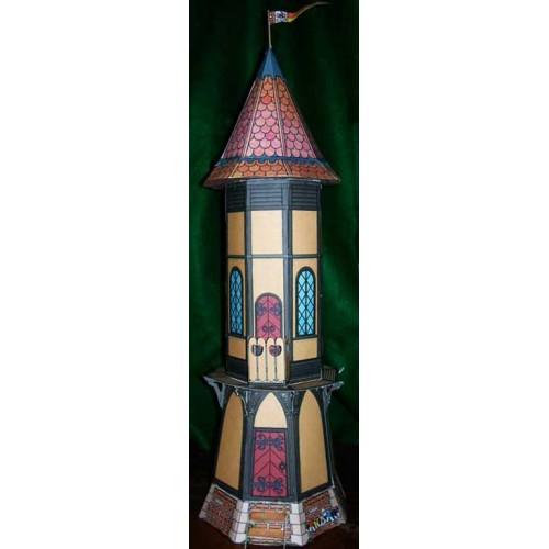 Sprookjes toren poppenhuis in 1:18 - papieren bouwplaat