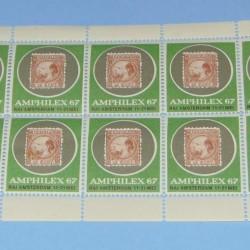 Velletje Amphilex 1967 entreezegels
