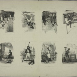 Beroepen - 19e eeuws knipvel - A3