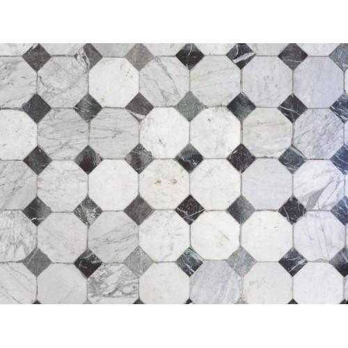 Vloertegels - motief A - scrapbooking print - A4 - zelfkl.