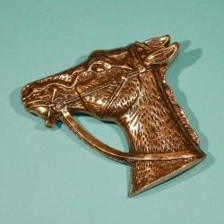 Paard broche, licht goudkleurig