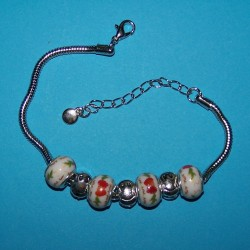 Pandora stijl armband, compleet, model P