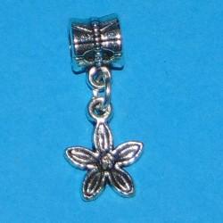 Bloem bangle, Pandora stijl, Tibet zilver, model D
