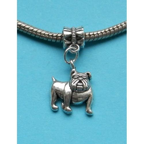 Bulldog bangle, Pandora stijl, Tibet zilver