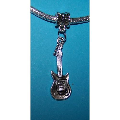 Elektrische gitaar bangle, Tibet zilver, Pandora stijl