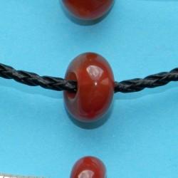 Roodbruine Agaat bead, Pandora stijl