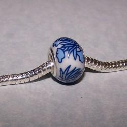 Delfts blauwe bead, Pandora stijl