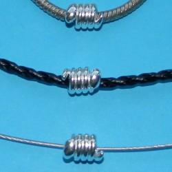 Spiraal spacer, Tibet zilver, Pandora stijl