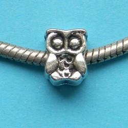 Uil spacer, Tibet zilver, Pandora stijl