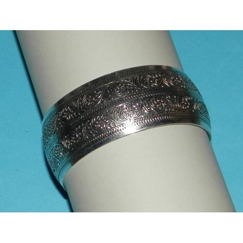Brede zilveren armband - model B
