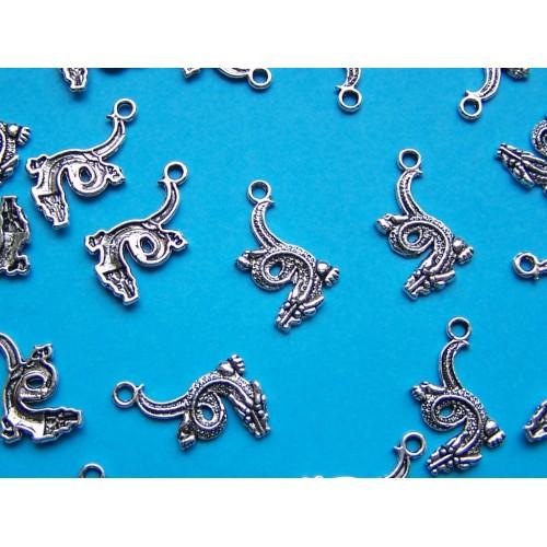 Draak bangle, Tibet zilver