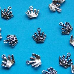 Kroon bangle, Tibet zilver