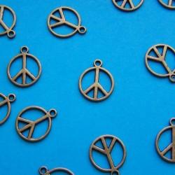 """Peace"" bangle, bronskleurig"
