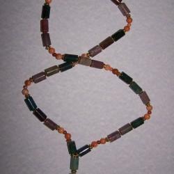 Agaat collier met fluoriet hanger