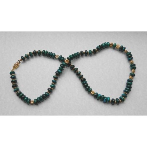 Blauw Chrysocolla collier - model B