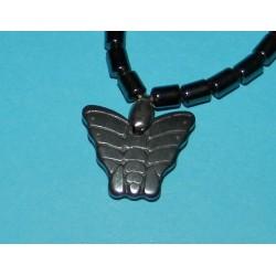 Hematiet collier met vlinder hanger