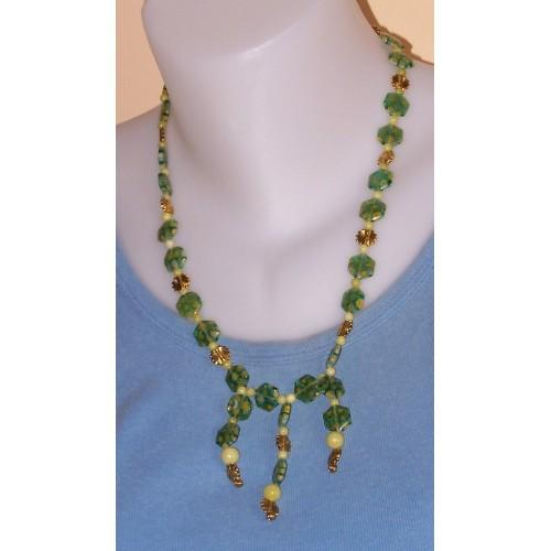 Groen millefiori collier
