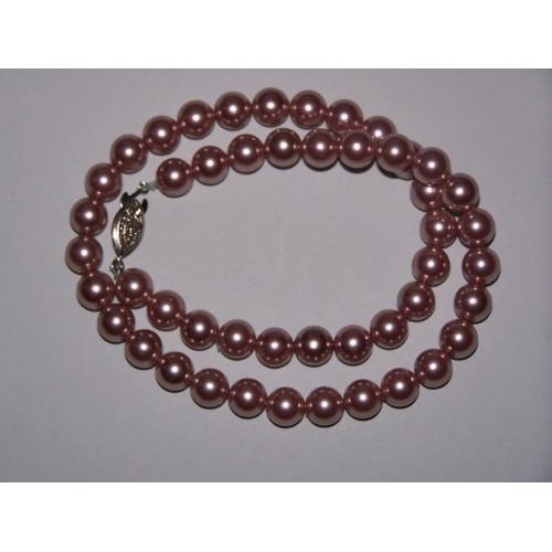 Elegant collier van lila parelmoer parels