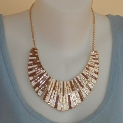 Egyptische stijl waaier collier