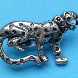 Luipaard broche, Tibet zilver