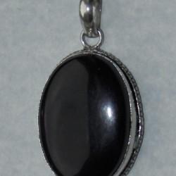 Amethist hanger in zilveren vatting