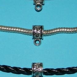 Bail of hangeroog, model Q, Tibet zilver, past op Pandora