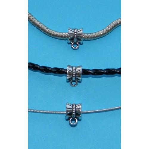 10 Bails of hangerogen - Tibet zilver - model S - past op Pandora