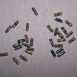 Aqua cloisonné buiskraal - 9x3mm