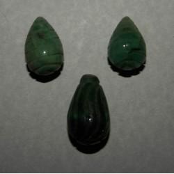Smaragd hangers - 30 en 24mm - set A