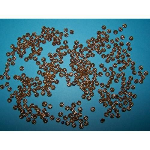 10 Bloem kralen - goudkleurig - 4.5mm