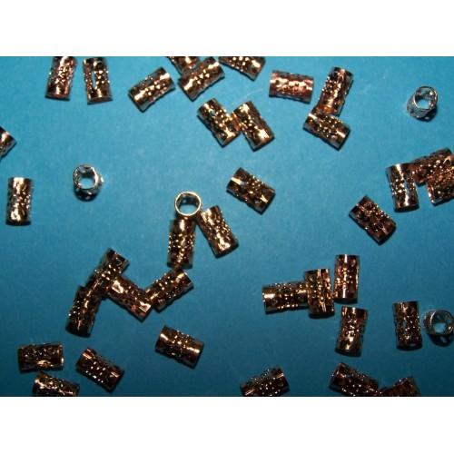 Filigrane spacer kraal, goudkleurig, 9x4,5mm