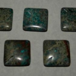 Lotje van 5 blauwe Zee Sediment Kralen, 20mm