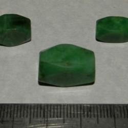 Smaragd kralen - set B - 18 en 13mm