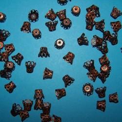 Kralenkap, brons filigraan, 9mm