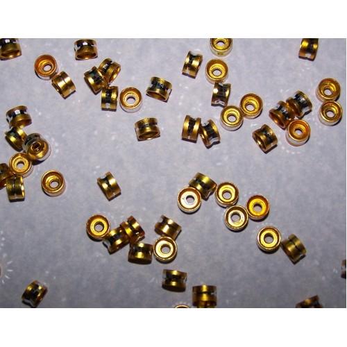 10 Aluminium spacers - goud