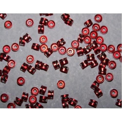 Aluminium spacer - rood - 10 stuks