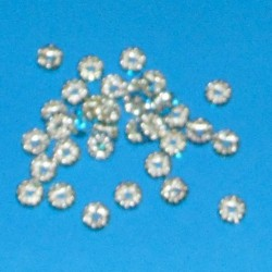 Tibet zilveren kristal spacer, ijsblauw, 8mm