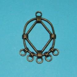 Tussenzetsel - 1 naar 5 gaten - brons